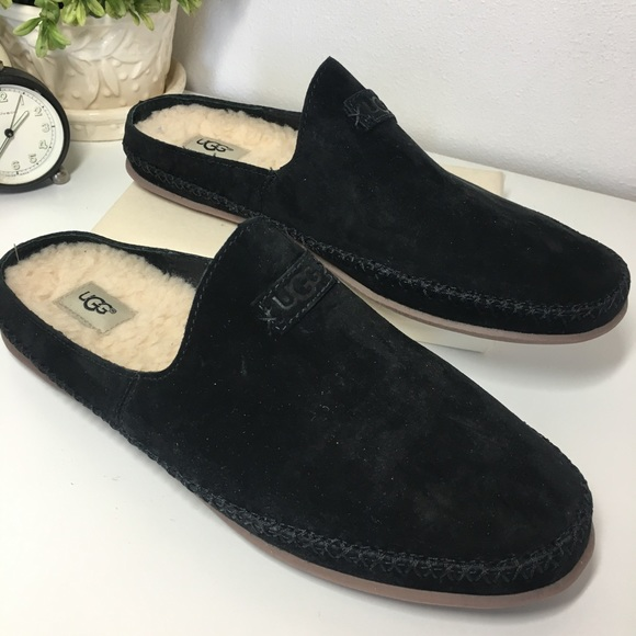 e8b422c4542 UGG NEW Tamara Suede Mule Black Slipper size 8